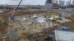 01 March 2014 - Crane & elevator pit prep.
