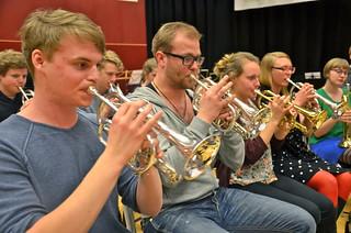 SYBB:s solokornetter med principal Daniel Björnell