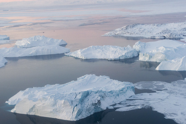 Icebergs in Ilulissat Icefjord, Greenland
