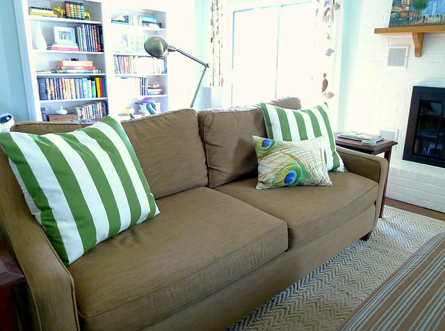 Green Stripe Pillows