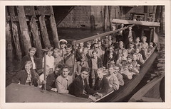 School excursion? Landungsbrücken, Hamburg (c.1950s)