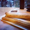 Churros with Patagonia dark chocolate. All the stuff to keep me nice and warm when it's 8 degrees outdoors #food
