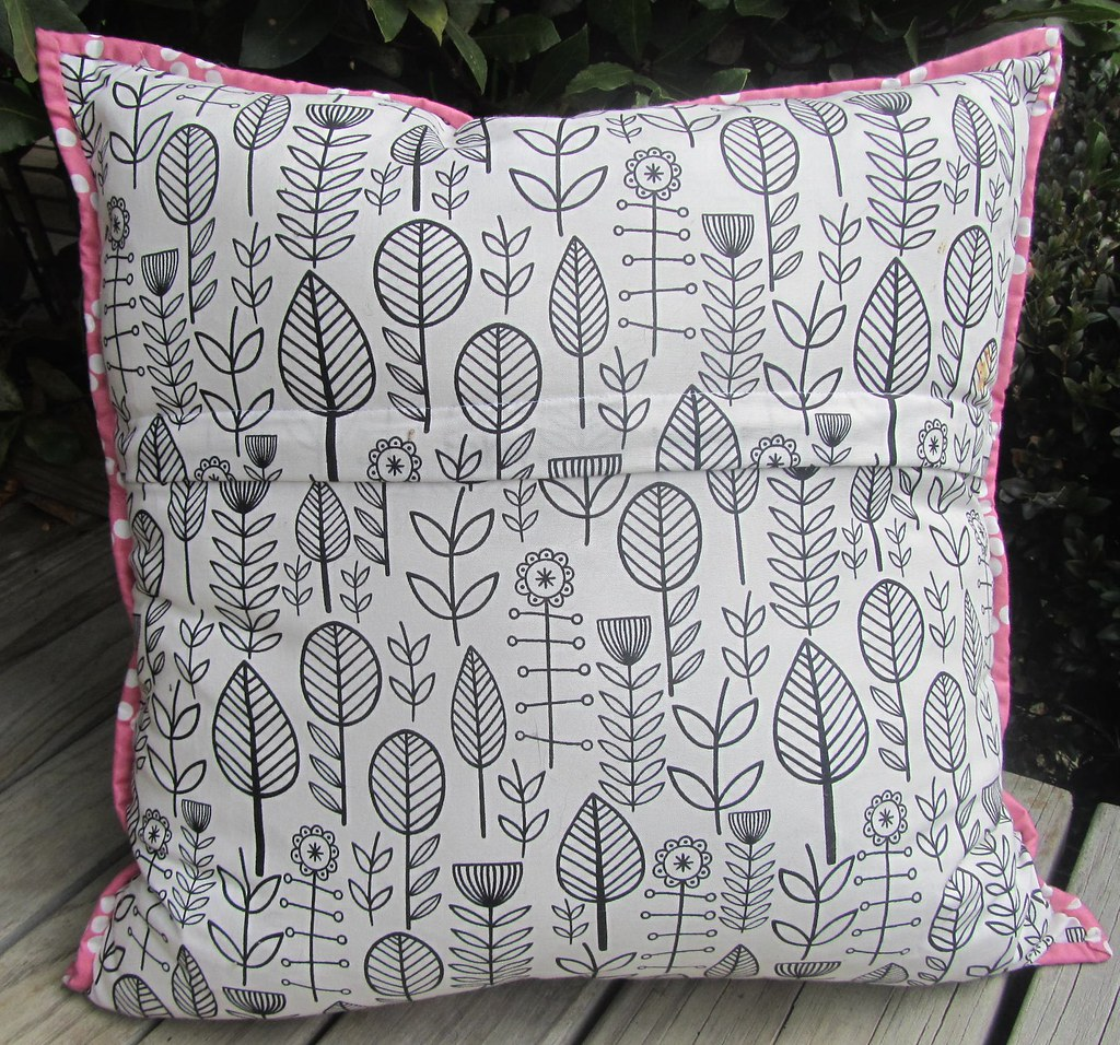 Back of Churn Dash pillow