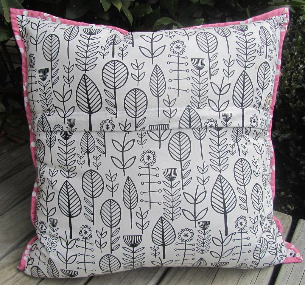 Back of Churn Dash pillow