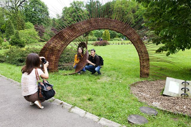 people. Botanical garden. Lviv, Ukraine