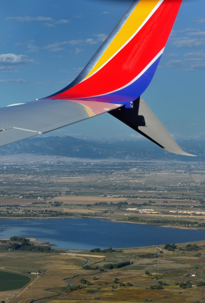 A Plane Window View to Colorado and the Rocky Mountains