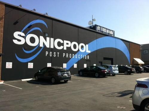 SonicPool - wall logo mural