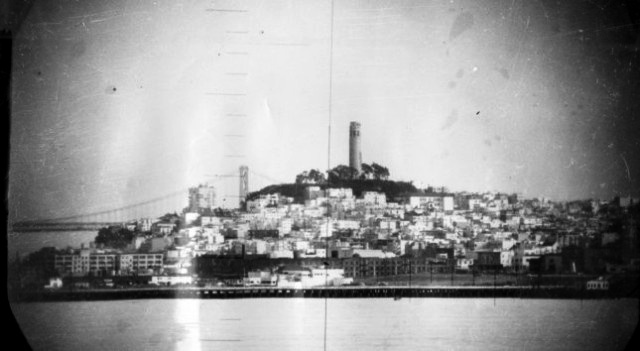 Periscope photo of San Franscisco - USS Catfish SS-339