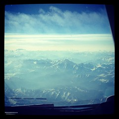 Flying over Mont Blanc today