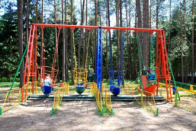 Grūto parkas. Sovietinės sūpynės