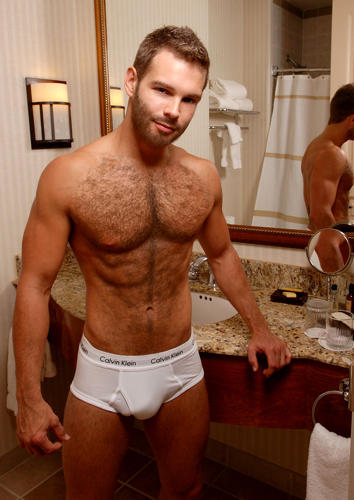 Hairy male underwear bulges something also