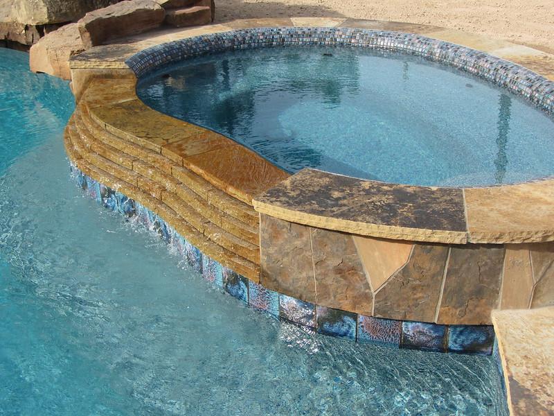 Water Pool Tiles : Premium waterline tile or pool surface texture