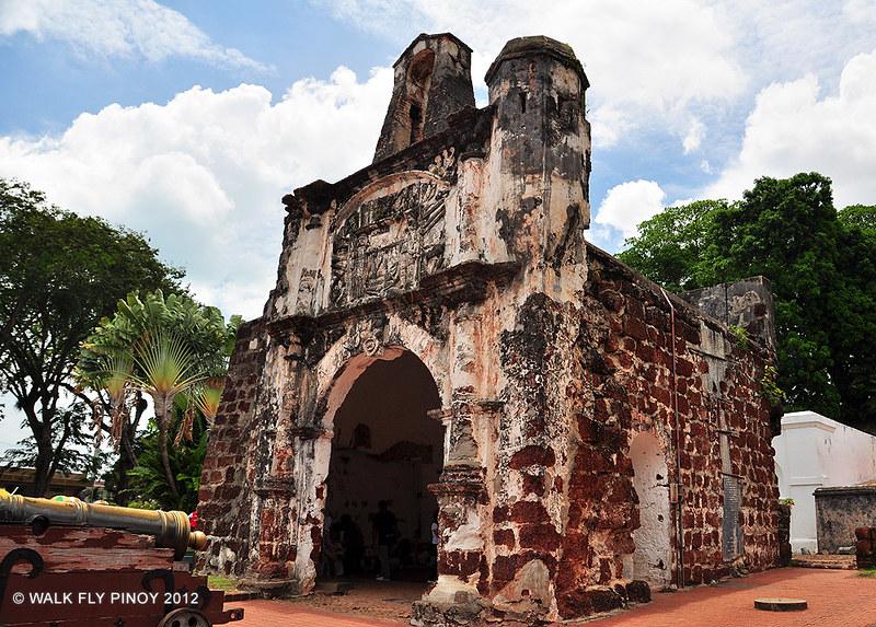 Ruins of the Porta de Santiago, Malacca, Malaysia