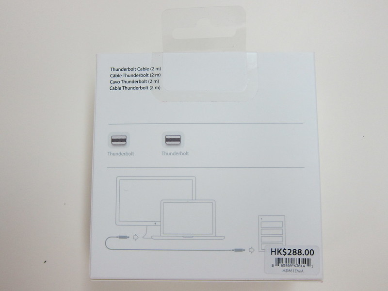 Apple Thunderbolt Cable (2m) - Box Back