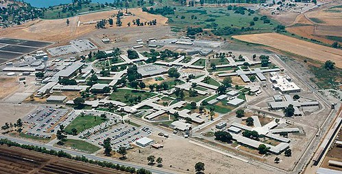 california women's prison aerial photo