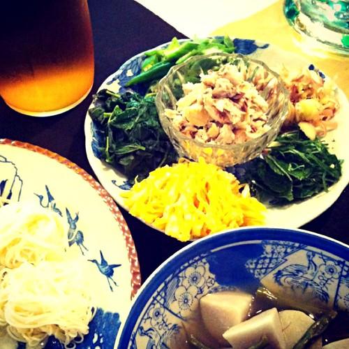 鯖素麺…里芋煮