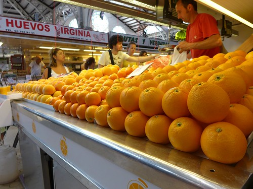 oranges at market Valencia