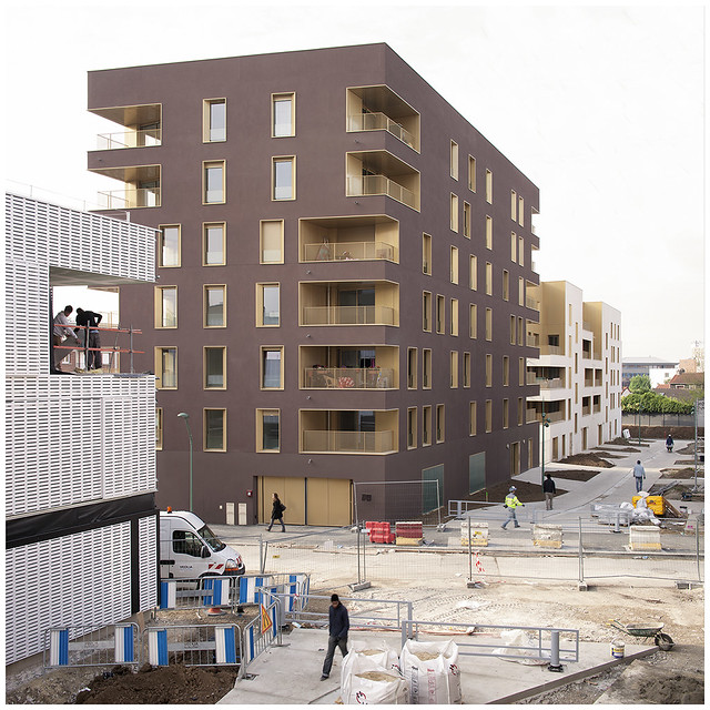 immeuble de logement tvk architectes zac du chaperon