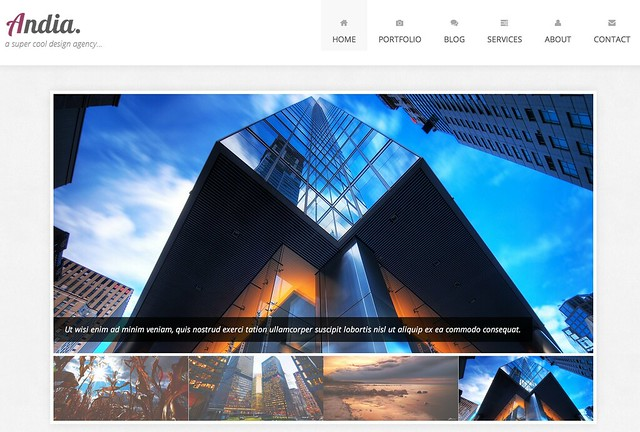 Bootstrap Template Andia