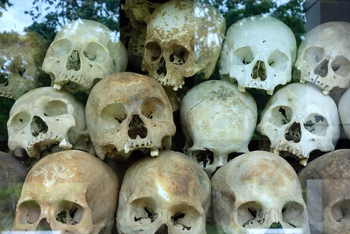 Stacked skulls - Killing Fields - Cambodia