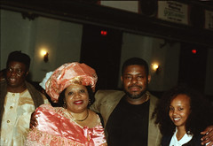 Chief Stephen Osita Osadebe (RIP) from Nigeria Hosted by  Equator Club Philadelphia Fouzia from Somalia with Nigerian People 1997 170 Fouzia & Friday