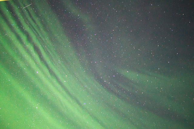 Una foto vertical de estas Northern Lights