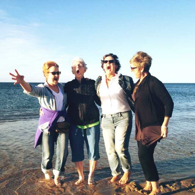 Come on in. The water's freezing! #family #racepointbeach