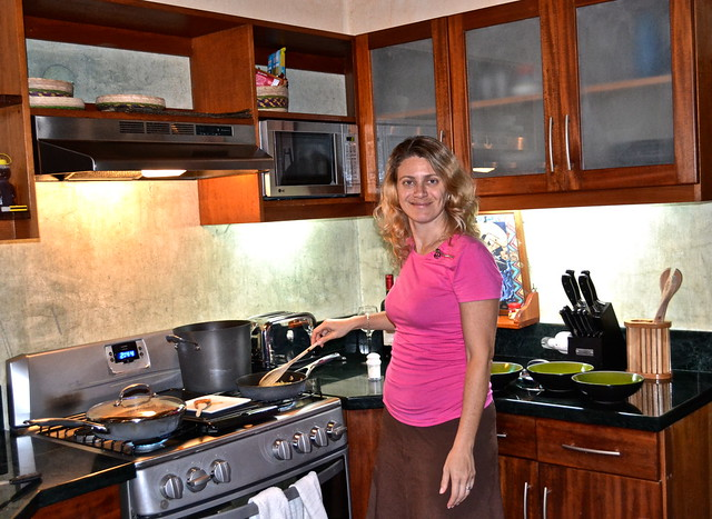 Cooking Dinner, Balam Ya, Luxury Villas, Lake Atitlan, Guatemala