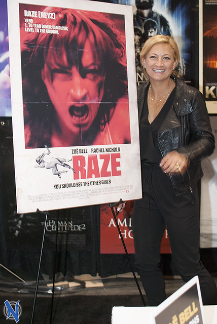 Zoe Bell Promoting Raze