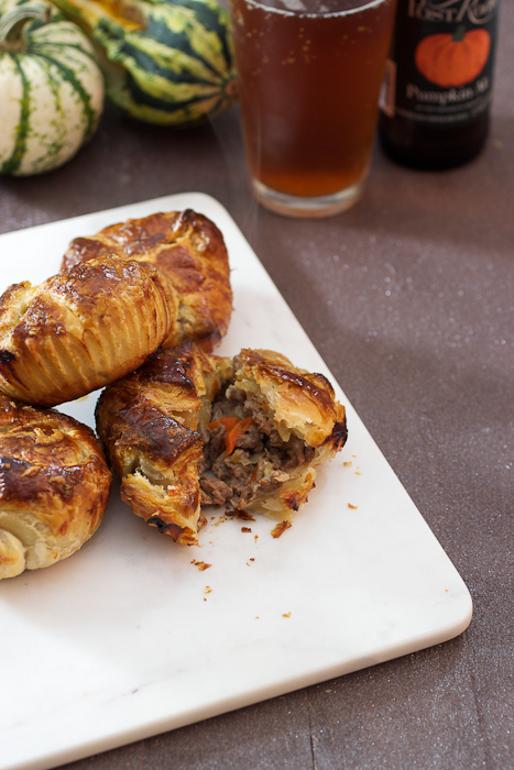 Pumpkin Beer, Meat and Cheese Pies