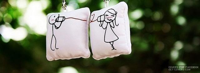 Cute Doodle Couple Facebook Cover Photo