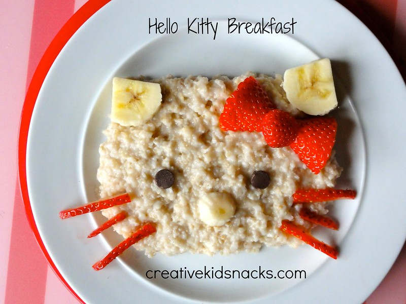 Creative Kid Snacks: Hello Kitty Breakfast