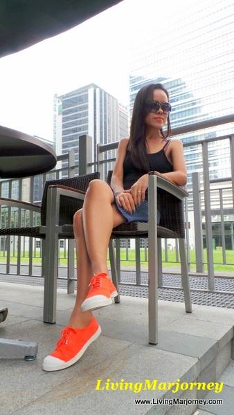 LivingMarjorney wearing Bensimon Sneakers
