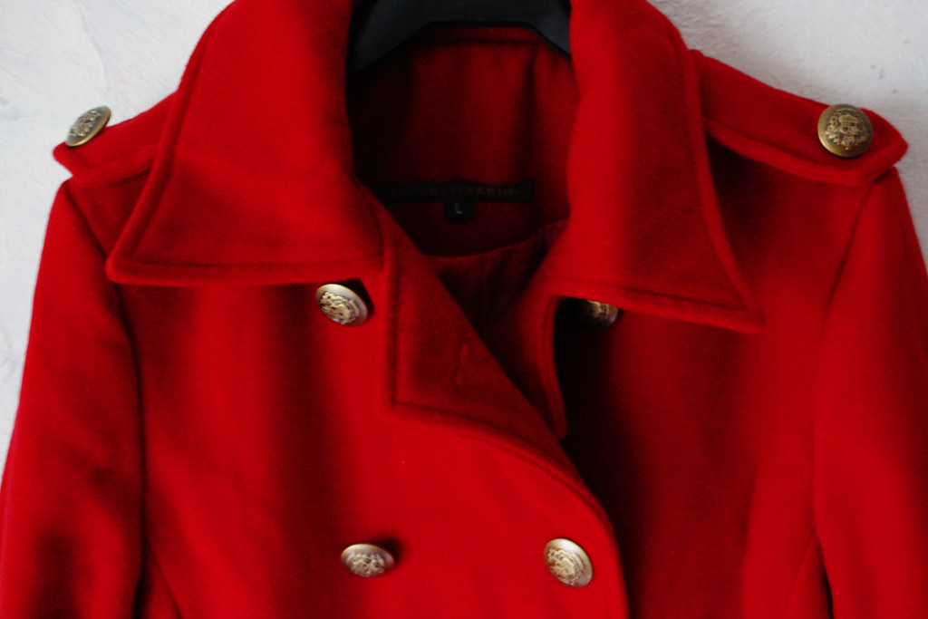 red double breasted coat from persunmall