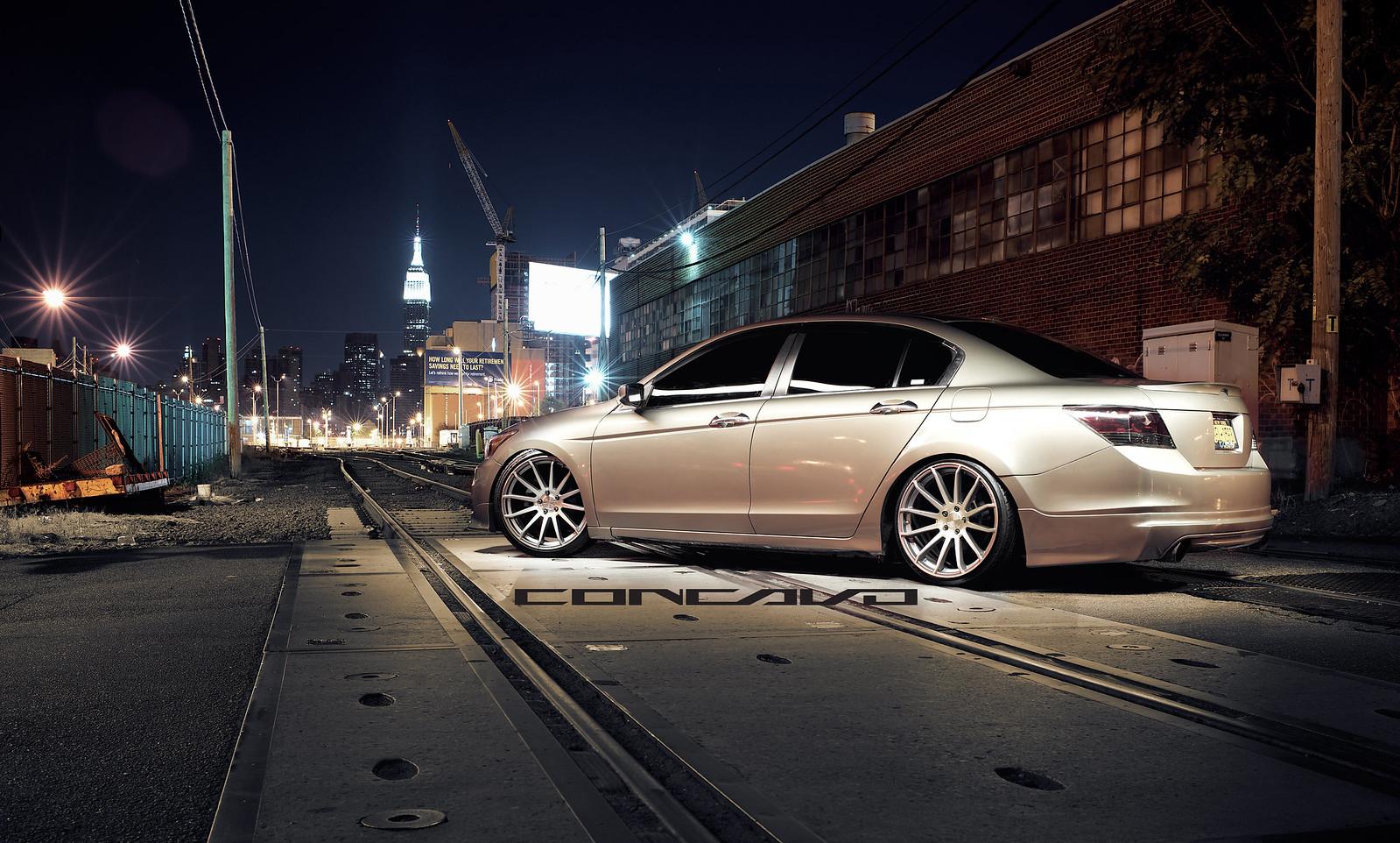 Honda accord sedan concavo cw 12 20x10 5 newyork for Slammed honda accord