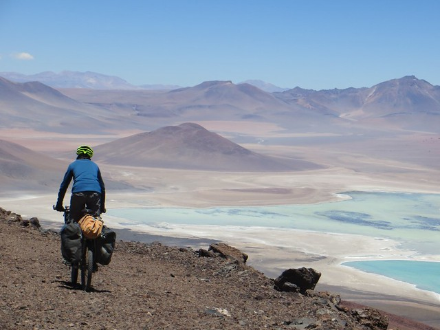 Descending towards Laguna Verde