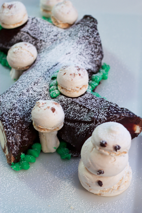 Triple Chocolate Buche de Noel