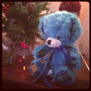 I got my beautiful Freddie bear as an Xmas present which means he can sit and join the festivities. Xxx