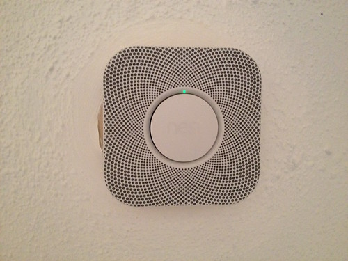 Nest Protect on the ceiling