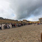 The line to enter Versailles