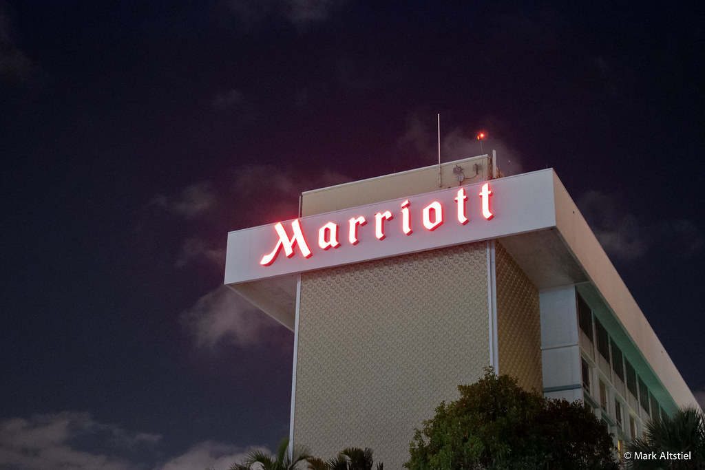 Miami Nights - Marriott Hotel Neon Sign