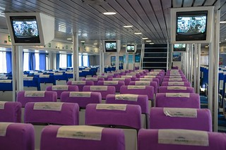 Interior de uno de los barcos.