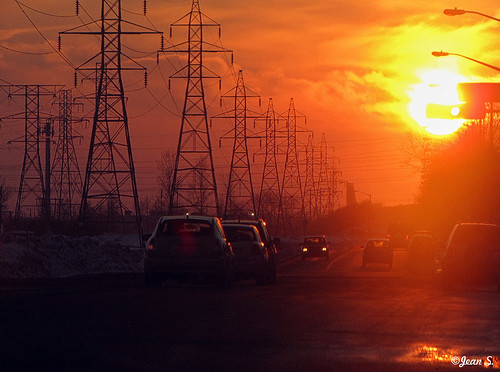 city winter sunset sky urban sun color cars canon landscape electricity