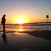 On the beach at sunset by adactio