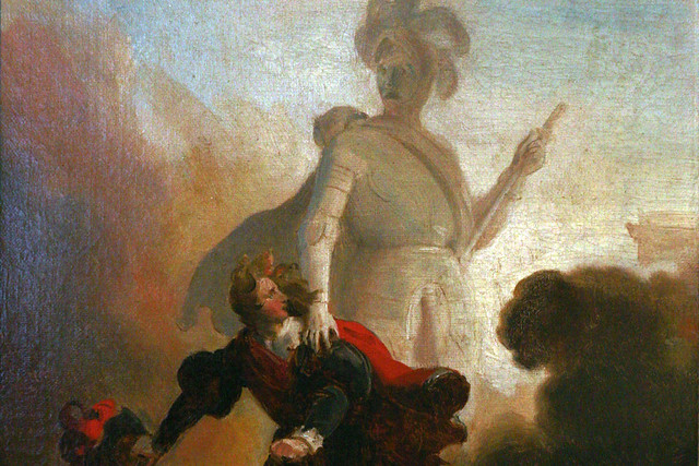 Don Juan and the statue of the Commander (detail) by Alexandre-Évariste Fragonard (1780–1850)