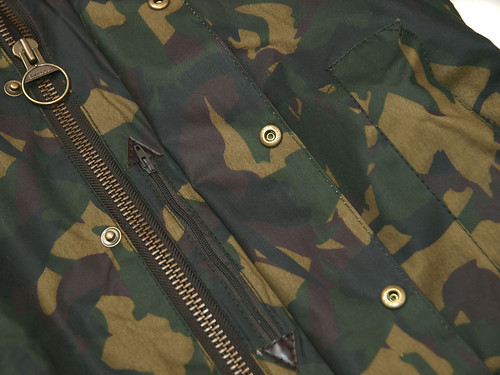 Barbour / Bourne Camo Waxed Jacket