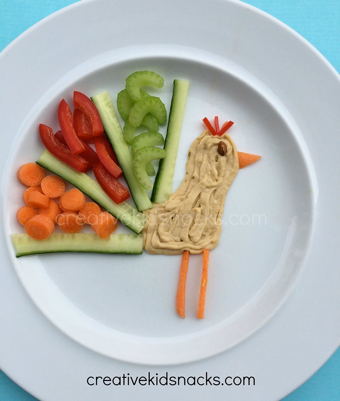 A cute way to serve veggies and hummus!  Get the kids excited to eat healthy food this way!  Many more ideas on creativekidsnacks.com - great resource!