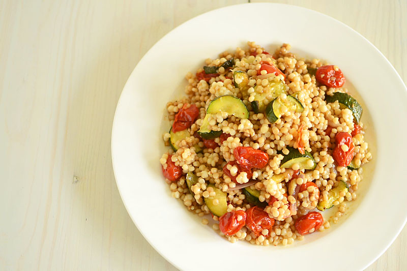 Israeli Couscous with Roasted Vegetables via LittleFerraroKitchen.com