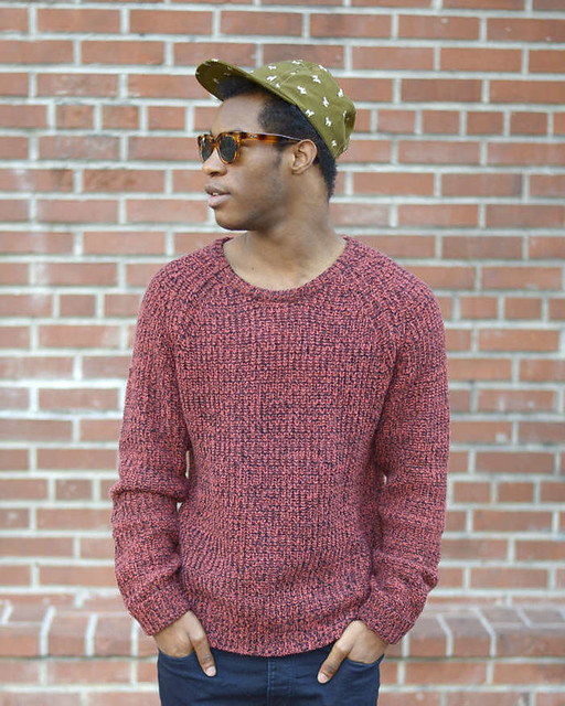 asos cap, shades of grey sweater, urban outfitters jeans, creative recreation sneakers, quay sunglasses, fashion blogger, menswear blogger, primary colors