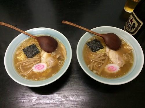 ラーメン(600円)と中華ソバ(650円)@らーめん京